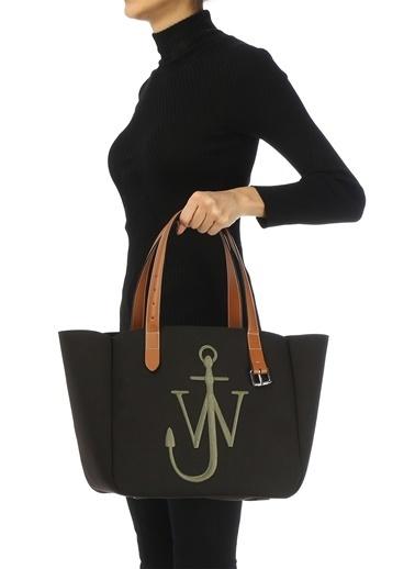 Jw Anderson Jw Anderson  Logo Nakışlı Kadın Omuz Çantası 101627768 Siyah